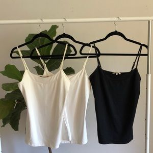 RW&CO off white and black silky camis